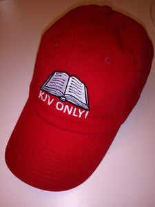 American Patriots Apparel Adjustable Strap Hat KJV Only! (WHITE TEXT) Psalm 12:6-7 (WHITE TEXT) Adjustable Strap Hat (6 Variants)