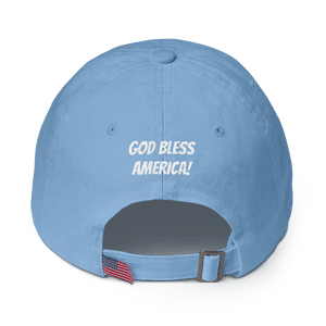 American Patriots Apparel Adjustable Strap Hat Make America Saved Again God Bless America Adjustable Strap Hat (5 Variants)