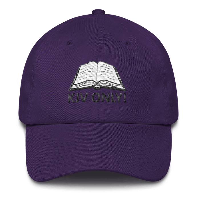 American Patriots Apparel Adjustable Strap Hat Purple KJV Only! (BLACK TEXT) Psalm 12:6-7 (WHITE TEXT) Adjustable Strap Hat (4 Variants)