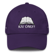 Load image into Gallery viewer, American Patriots Apparel Adjustable Strap Hat Purple KJV Only! (WHITE TEXT) Multiple Bible Verses (WHITE TEXT) Adjustable Strap Hat (6 Variants)