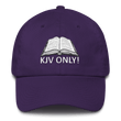 Load image into Gallery viewer, American Patriots Apparel Adjustable Strap Hat Purple KJV Only! (WHITE TEXT) Psalm 12:6-7 (WHITE TEXT) Adjustable Strap Hat (6 Variants)