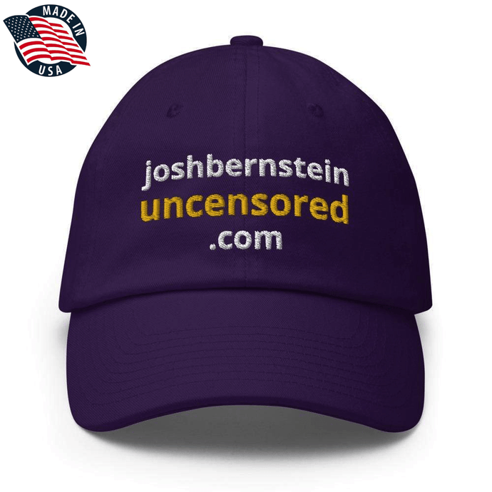 American Patriots Apparel Adjustable Strap Hat Purple / OSFA joshbernsteinuncensored.com TRUTH White & Yellow Text Adjustable Strap Hat (7 Variants)