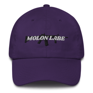 American Patriots Apparel Adjustable Strap Hat Purple / OSFA Molon Labe AR-15 Pew Pew Adjustable Strap Hat (7 Variants)