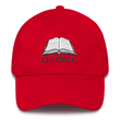 Load image into Gallery viewer, American Patriots Apparel Adjustable Strap Hat Red KJV Only! (BLACK TEXT) Psalm 12:6-7 (WHITE TEXT) Adjustable Strap Hat (4 Variants)