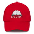 Load image into Gallery viewer, American Patriots Apparel Adjustable Strap Hat Red KJV Only! (WHITE TEXT) Psalm 12:6-7 (WHITE TEXT) Adjustable Strap Hat (6 Variants)