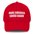 Load image into Gallery viewer, American Patriots Apparel Adjustable Strap Hat Red MAKE AMERICA SAVED AGAIN 1 Cor. 15:1-4 Adjustable Strap Hat (5 Variants)