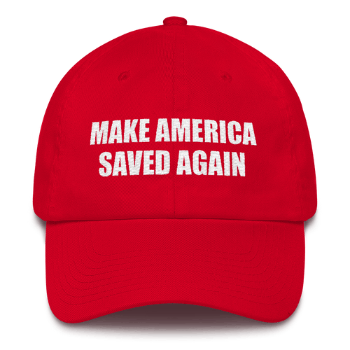 American Patriots Apparel Adjustable Strap Hat Red MAKE AMERICA SAVED AGAIN 1 Cor. 15:1-4 Adjustable Strap Hat (5 Variants)