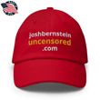 Load image into Gallery viewer, American Patriots Apparel Adjustable Strap Hat Red / OSFA joshbernsteinuncensored.com TRUTH White & Yellow Text Adjustable Strap Hat (7 Variants)