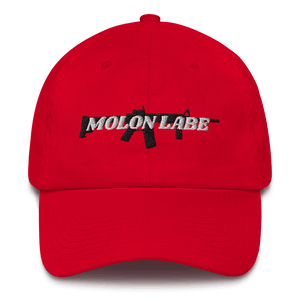 American Patriots Apparel Adjustable Strap Hat Red / OSFA Molon Labe AR-15 Pew Pew Adjustable Strap Hat (7 Variants)