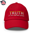 Load image into Gallery viewer, American Patriots Apparel Adjustable Strap Hat Red TRUTH It's The New Hate Speech White & Yellow Text Adjustable Strap Hat (7 Variants)
