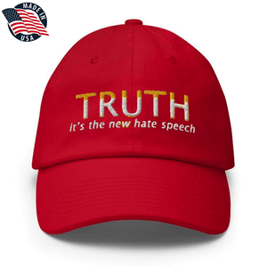 American Patriots Apparel Adjustable Strap Hat Red TRUTH It's The New Hate Speech White & Yellow Text Adjustable Strap Hat (7 Variants)