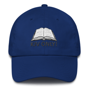 American Patriots Apparel Adjustable Strap Hat Royal Blue KJV Only! (BLACK TEXT) Psalm 12:6-7 (WHITE TEXT) Adjustable Strap Hat (4 Variants)