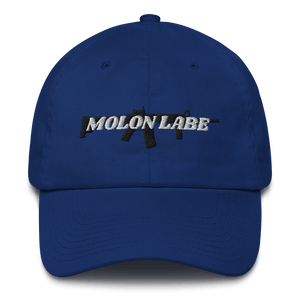 American Patriots Apparel Adjustable Strap Hat Royal Blue / OSFA Molon Labe AR-15 Pew Pew Adjustable Strap Hat (7 Variants)