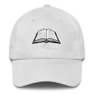 American Patriots Apparel Adjustable Strap Hat White KJV Only! (WHITE TEXT) Multiple Bible Verses (WHITE TEXT) Adjustable Strap Hat (6 Variants)