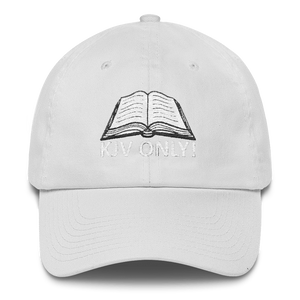 American Patriots Apparel Adjustable Strap Hat White KJV Only! (WHITE TEXT) Psalm 12:6-7 (WHITE TEXT) Adjustable Strap Hat (6 Variants)