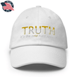 Load image into Gallery viewer, American Patriots Apparel Adjustable Strap Hat White TRUTH It's The New Hate Speech White & Yellow Text Adjustable Strap Hat (7 Variants)