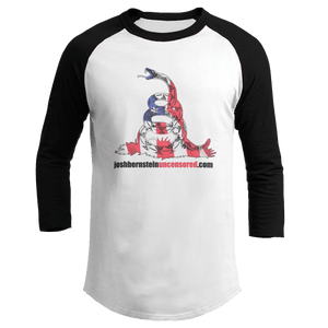 Print Brains Augusta Colorblock Raglan Jersey / Black/White / S Don't Tread On Me Josh Bernstein Uncensored Raglan Jersey (16 Variants)