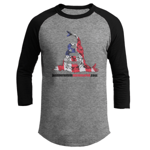 Print Brains Augusta Colorblock Raglan Jersey / Heather Gray/Black / S Don't Tread On Me Josh Bernstein Uncensored Raglan Jersey (16 Variants)