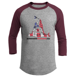 Print Brains Augusta Colorblock Raglan Jersey / Heather Gray/Maroon / S Don't Tread On Me Josh Bernstein Uncensored Raglan Jersey (16 Variants)