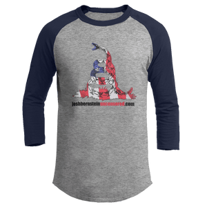 Print Brains Augusta Colorblock Raglan Jersey / Heather Gray/Navy / S Don't Tread On Me Josh Bernstein Uncensored Raglan Jersey (16 Variants)
