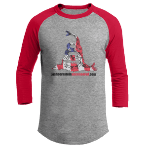 Print Brains Augusta Colorblock Raglan Jersey / Heather Gray/Red / S Don't Tread On Me Josh Bernstein Uncensored Raglan Jersey (16 Variants)