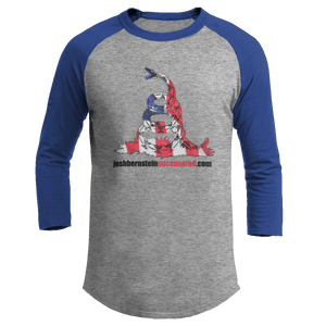 Print Brains Augusta Colorblock Raglan Jersey / Heather Gray/Royal Blue / S Don't Tread On Me Josh Bernstein Uncensored Raglan Jersey (16 Variants)