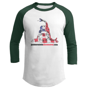 Print Brains Augusta Colorblock Raglan Jersey / White/Forest Green / S Don't Tread On Me Josh Bernstein Uncensored Raglan Jersey (16 Variants)