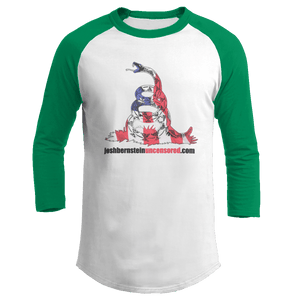 Print Brains Augusta Colorblock Raglan Jersey / White/Kelly Green / S Don't Tread On Me Josh Bernstein Uncensored Raglan Jersey (16 Variants)