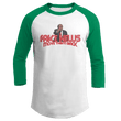Load image into Gallery viewer, Print Brains Augusta Colorblock Raglan Jersey / White/Kelly Green / S Trump Fake News MOVE THEM BACK Raglan (16 Variants)