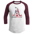 Load image into Gallery viewer, Print Brains Augusta Colorblock Raglan Jersey / White/Maroon / S Don't Tread On Me Josh Bernstein Uncensored Raglan Jersey (16 Variants)
