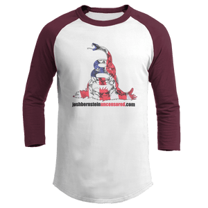 Print Brains Augusta Colorblock Raglan Jersey / White/Maroon / S Don't Tread On Me Josh Bernstein Uncensored Raglan Jersey (16 Variants)