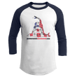 Load image into Gallery viewer, Print Brains Augusta Colorblock Raglan Jersey / White/Navy / S Don't Tread On Me Josh Bernstein Uncensored Raglan Jersey (16 Variants)