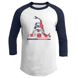 Print Brains Augusta Colorblock Raglan Jersey / White/Navy / S Don't Tread On Me Josh Bernstein Uncensored Raglan Jersey (16 Variants)