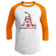 Load image into Gallery viewer, Print Brains Augusta Colorblock Raglan Jersey / White/Orange / S Don't Tread On Me Josh Bernstein Uncensored Raglan Jersey (16 Variants)