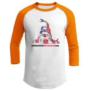 Print Brains Augusta Colorblock Raglan Jersey / White/Orange / S Don't Tread On Me Josh Bernstein Uncensored Raglan Jersey (16 Variants)