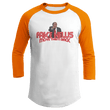 Load image into Gallery viewer, Print Brains Augusta Colorblock Raglan Jersey / White/Orange / S Trump Fake News MOVE THEM BACK Raglan (16 Variants)
