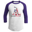 Load image into Gallery viewer, Print Brains Augusta Colorblock Raglan Jersey / White/Purple / S Don't Tread On Me Josh Bernstein Uncensored Raglan Jersey (16 Variants)
