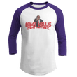 Load image into Gallery viewer, Print Brains Augusta Colorblock Raglan Jersey / White/Purple / S Trump Fake News MOVE THEM BACK Raglan (16 Variants)