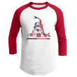 Load image into Gallery viewer, Print Brains Augusta Colorblock Raglan Jersey / White/Red / S Don't Tread On Me Josh Bernstein Uncensored Raglan Jersey (16 Variants)