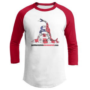 Print Brains Augusta Colorblock Raglan Jersey / White/Red / S Don't Tread On Me Josh Bernstein Uncensored Raglan Jersey (16 Variants)