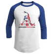 Load image into Gallery viewer, Print Brains Augusta Colorblock Raglan Jersey / White/Royal Blue / S Don't Tread On Me Josh Bernstein Uncensored Raglan Jersey (16 Variants)
