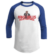 Load image into Gallery viewer, Print Brains Augusta Colorblock Raglan Jersey / White/Royal Blue / S Trump Fake News MOVE THEM BACK Raglan (16 Variants)