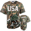 Load image into Gallery viewer, Print Brains Baseball Jersey Camo / S Born To Kill Bad Guys Baseball Jersey