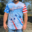 Load image into Gallery viewer, Print Brains Baseball Jersey Team America 2nd Amendment Baseball Jersey v2