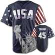 Load image into Gallery viewer, Print Brains Baseball Jersey Trump #45 Baseball Jersey / Navy / S Trump #45 Baseball Jersey (3 Variants)