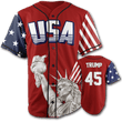 Load image into Gallery viewer, Print Brains Baseball Jersey Trump #45 Baseball Jersey / Red / S Trump #45 Baseball Jersey (3 Variants)