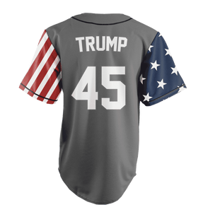 Print Brains Baseball Jersey Trump #45 Statue of Liberty Baseball Jersey (3 Variants)
