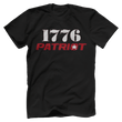 Load image into Gallery viewer, Print Brains Bella + Canvas US Made Cotton Crew / Black / XS 1776 Star Patriot Tee (6 Variants)