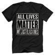 Load image into Gallery viewer, Print Brains Bella + Canvas US Made Cotton Crew / Black / XS ALL Lives Matter Not Just Black Ones Tee (6 Variants)