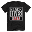 Load image into Gallery viewer, Print Brains Bella + Canvas US Made Cotton Crew / Black / XS BLACK LIVES MAGA Tee (6 Variants)